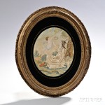 Framed Oval Silk Needlework Picture, 19th century (Lot 189, Estimate $300-$500)