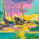 Marcel Mouly (French, 1918-2008) Les Barques Noires (Lot 1077, Estimate $1,000-$1,500)