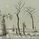 Clarence H. Carter (American, 1904-2000) Surrealist Landscape (Lot 1078, Estimate $700-$900)