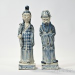Two Blue and White Porcelain Figures, China (Lot 2015, Estimate $700-$900)