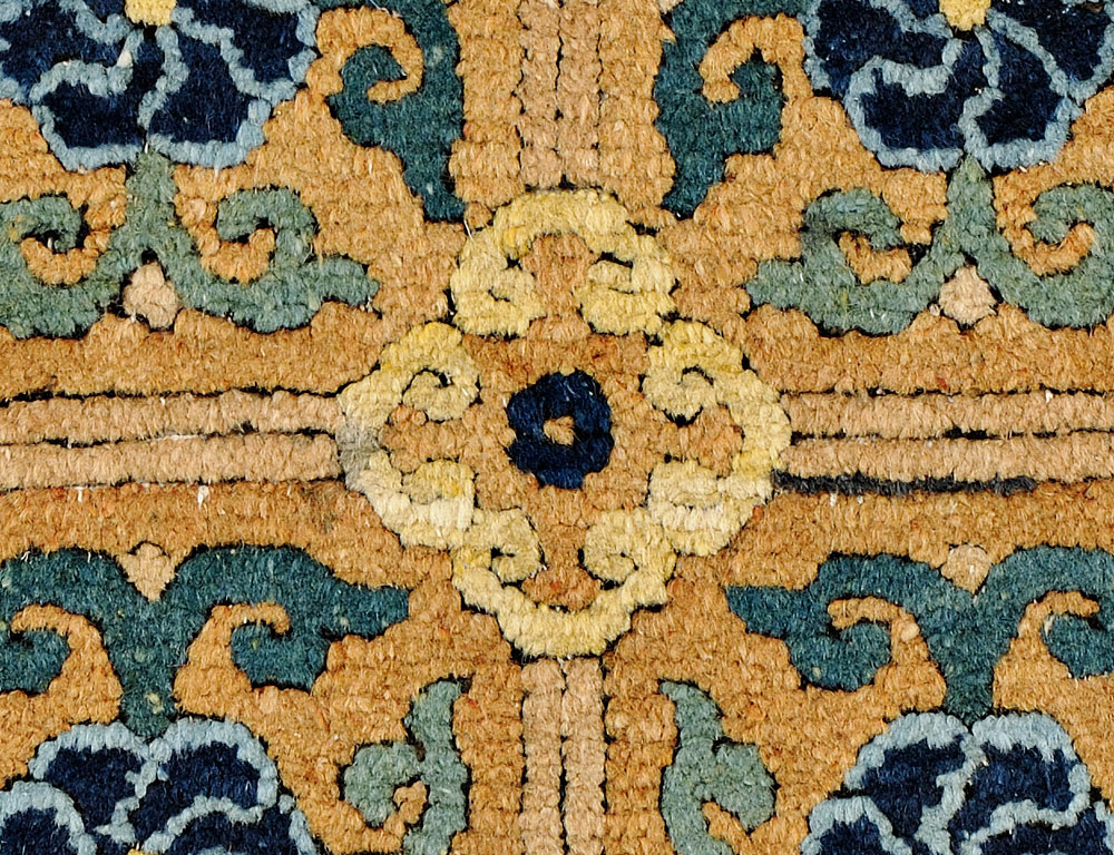 Ming Chinese Carpet Fragment, 16th Century (Estimate $10,000-$12,000)