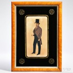 Framed Watercolor Profile Portrait of a Gentleman (Lot 584, Estimate $300-$350)