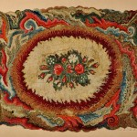 Large Mounted Floral Shirred Rug (Lot 416, Estimate $400-$600)