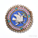 14kt Gold Micromosaic Brooch (Lot 1088, Estimate $500-700)