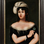 American School, 19th Century   Portrait of a Woman (Lot 525, Estimate $300-500)