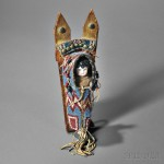 Kiowa Beaded Toy Cradle, c. last quarter 19th century (Lot 126, Estimate $5,000-$7,000)