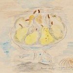 Raoul Dufy (French, 1877-1953)  Bowl of Pears with a Shell (Lot 310B, Estimate $10,000-$15,000)