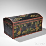 Paint-decorated Pine Dome-top Trunk, possibly Rhode Island, c. 1827 (Lot 251, Estimate $3,000-5,000)