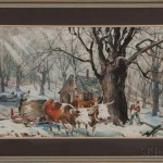 Carl Gilbert (American, 1882-1959) Maple Sugarring, Signed